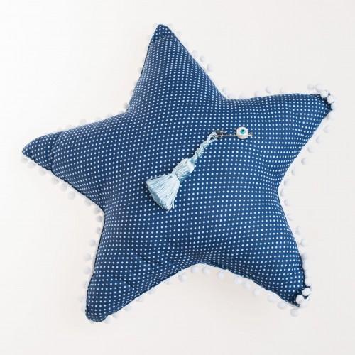 Μαξιλάρι μπλε αστεράκι