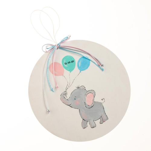 Ταμπλώ ελεφαντάκι με μπαλόνια