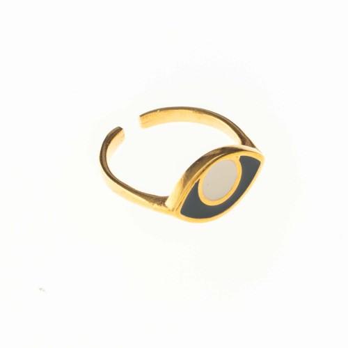 """Δαχτυλίδι """"Οβάλ μάτι"""""""