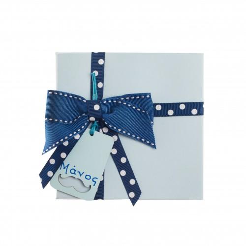 Μπομπονιέρα Κουτί Γαλάζιο B03002
