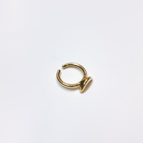 Δαχτυλίδι boomerang επίχρυσο