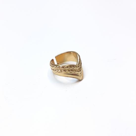 Δαχτυλίδι ανάγλυφο επίχρυσο