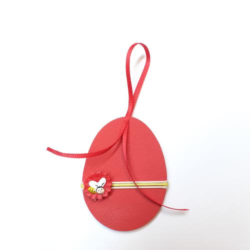 Αυγό κρεμαστό κόκκινο